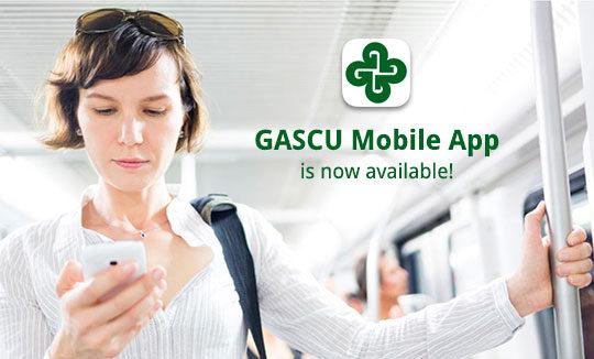 Girl on train using GASCU mobile app